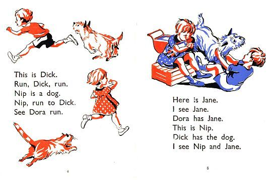 Dick and Dora - Happy Venure Readers.  Loved these school books