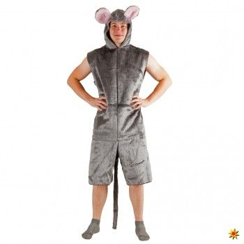 Unisex Kostüm graue Maus | Fasching Kostüme kaufen