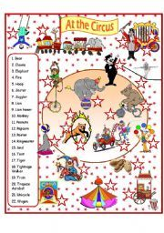 English worksheet: At the Circus