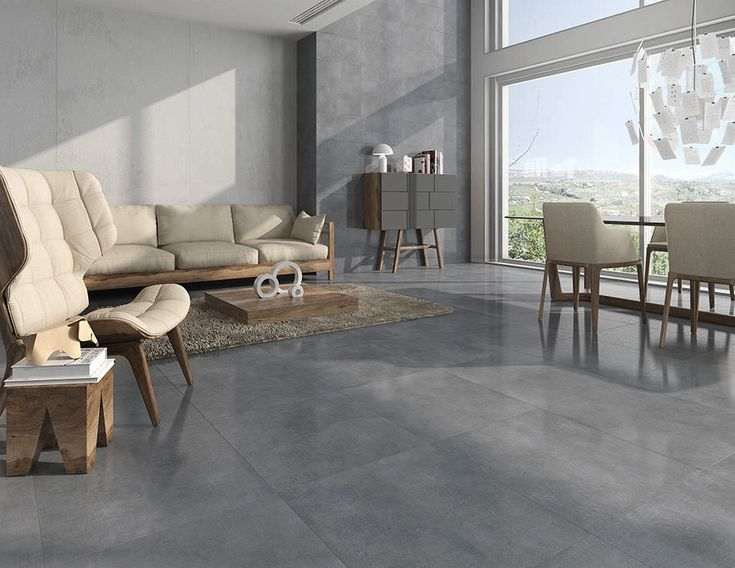 Concrete Look Bathroom Tiles Indoor tile for bathroom floor porcelain stoneware STYLELiving Room architecture space Pinterest