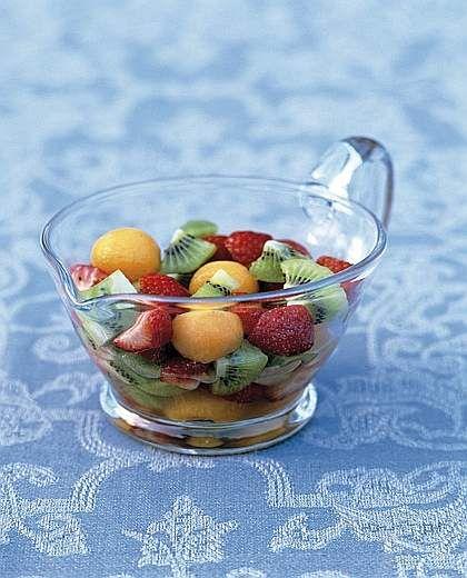 Insalata di fragole, kiwi e melone