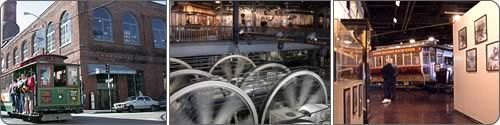 San Francisco Cable Car Museum - not just a museum but the power house for the system.  The cables that the cable cars grip to get up the hills are pulled through the streets by the big wheels in the power house.