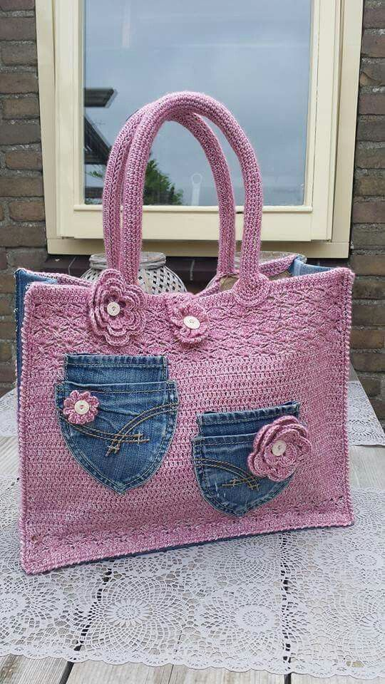 Hermosa bolsa a crochet