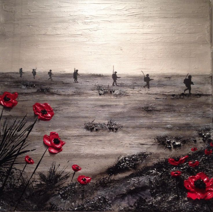 """While We Sleep"" By Jacqueline Hurley War Poppy Collection No.21 Port Out, Starboard Home POSH Original Art"
