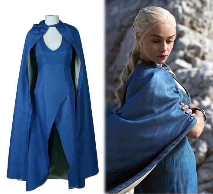 Daenerys Targaryen Khaleesi traje de juego de tronos Qarth vestido Cosplay Comic Con vestido azul de TopFoxx en Etsy https://www.etsy.com/mx/listing/467587978/daenerys-targaryen-khaleesi-traje-de