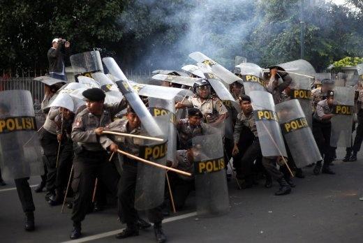 Polisi in Jakarta.
