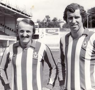 Peter Rodrigues, left, and Peter Osgood