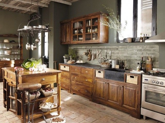 Great style for loft living cuisine campagnarde kitchens compact complete pinterest Deco cuisine campagnarde