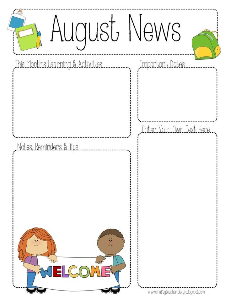 October Newsletter Daycare Template on printable downloadable, free downloadable preschool,