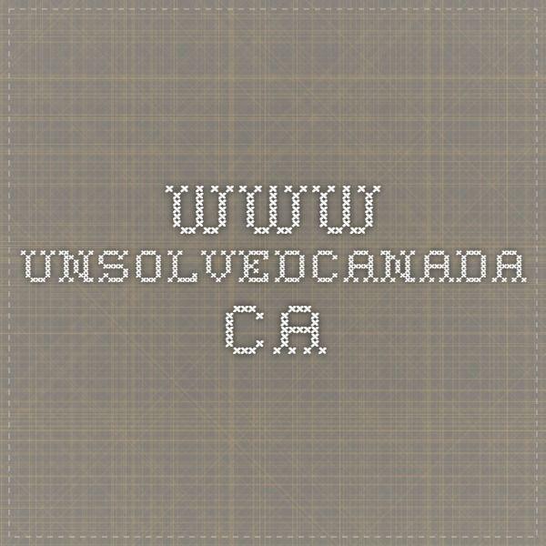 www.unsolvedcanada.ca