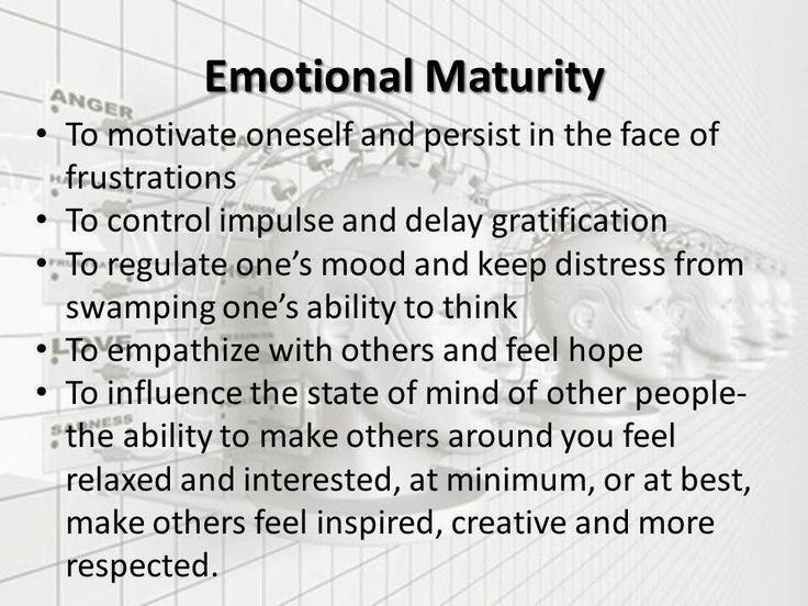 Emotional Maturity