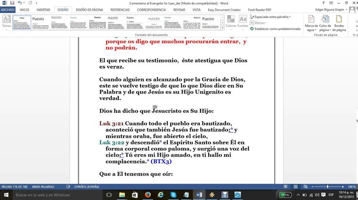 El Evangelio San Juan Cap 3 vers 31bal33