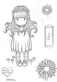 gorjuss girls stamp - daisy