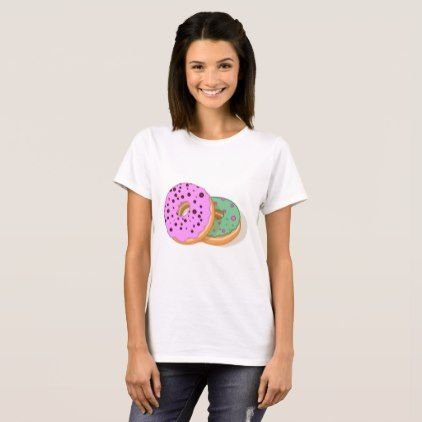Pink and mint green donuts T-Shirt - girly gifts girls gift ideas unique special