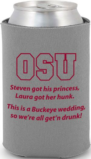 Totally Wedding Koozies - college/university theme wedding design- Not buckeye, AGGIE!