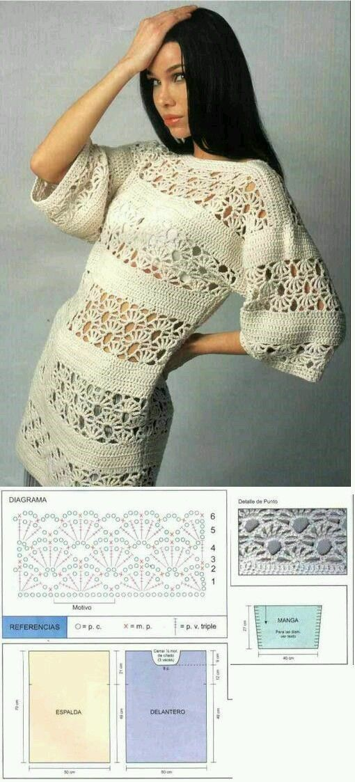 173 best Patrones images on Pinterest | Crocheting patterns, Knit ...