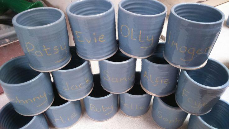 Pencil pots for Little Cuckoos pre-school