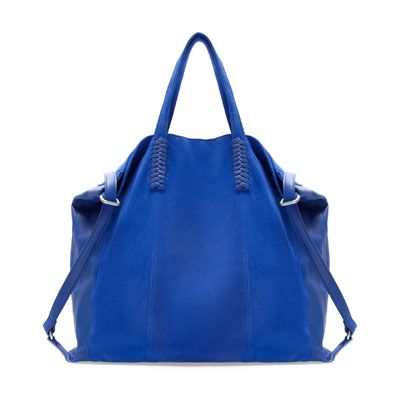 Image 1 of COMBINATION LEATHER SHOPPER from Zara