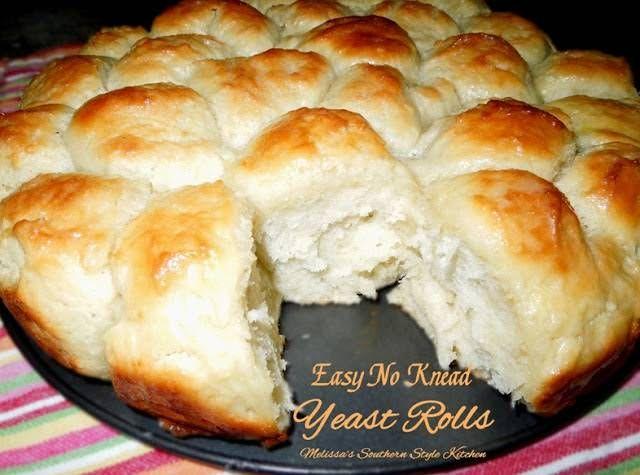 Easy No Knead Yeast Rolls Recipe Yeast Rolls Food Recipes No