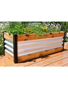 Metallic Corten Steel Raised Garden Bed