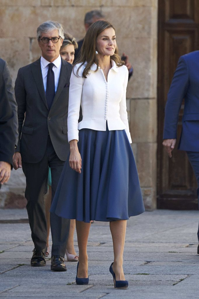 Queen Letizia of Spain attends the opening of the Scholar University College year at the Salamanca University on September 14, 2017 in Salamanca, Spain.
