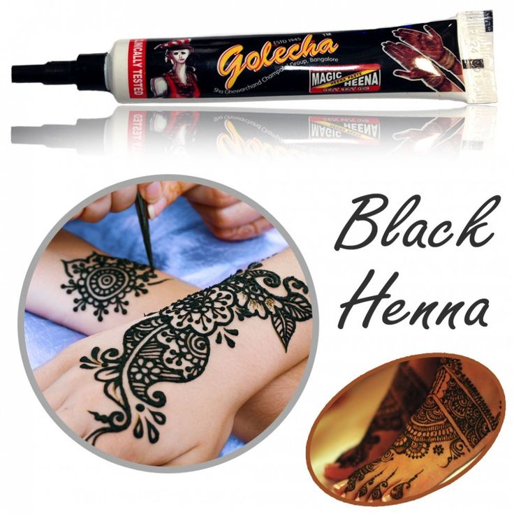 Golecha Henna Tube - BLACK | Fast Dry-Color | Clinically tested