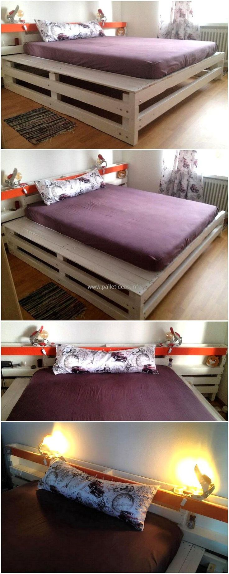 This is one of most needed and important item in your daily life is your sleeping bed. This is stylish reused pallets wood bed crafted uniquely to fulfill the requirements of charming wood furniture at your home. This modern design bed is crafted from recycling wood pallets, so cheap in cost as well.