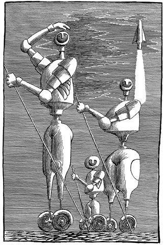 KSIĘGA ROBOTÓW St. Lem ilustracja Daniel Mróz www.solaris.lem.pl