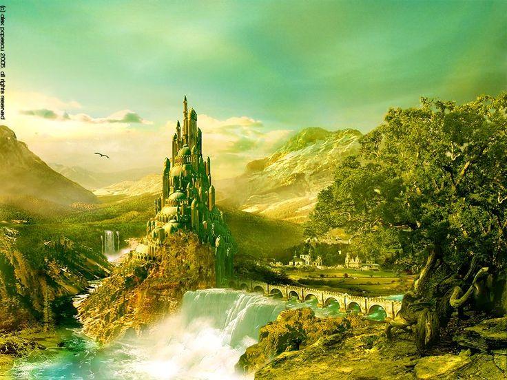 landscapes castles fantasy art - photo #22