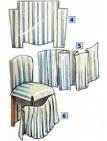 155 best housse de chaise images on pinterest slipcovers chairs and chair covers - Stuhlhussen nahen ...