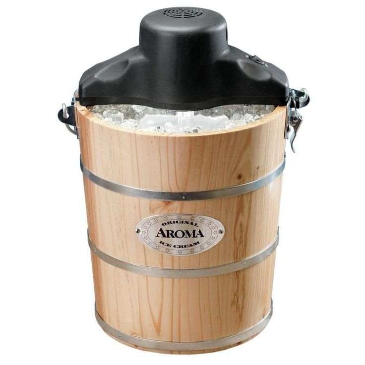 Aroma AIC-206EM 6-Quart Traditional Ice Cream (Ivory) Maker