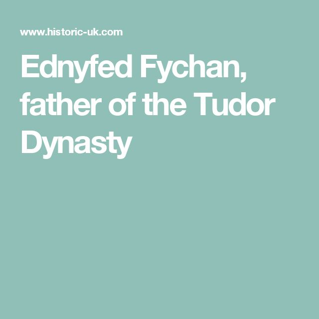 Ednyfed Fychan, father of the Tudor Dynasty