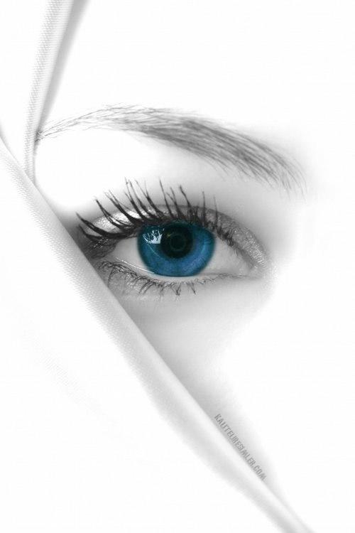 blauwe ogen beeld