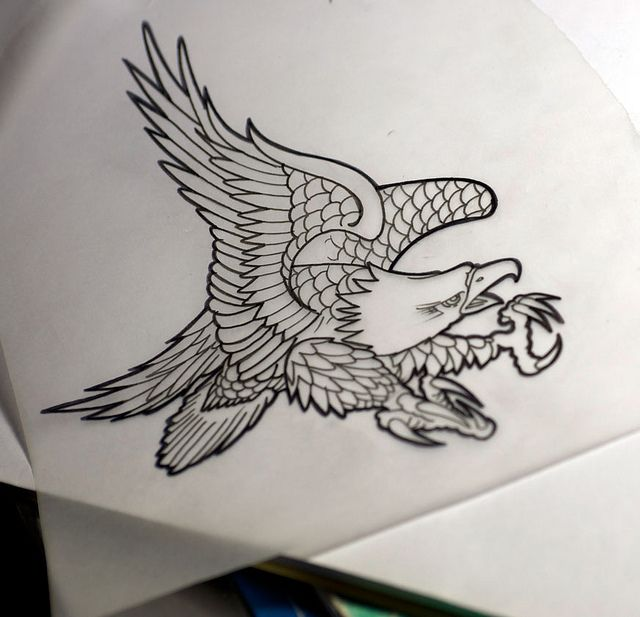 eagle chest piece tattoo | Eagle Tattoo Flash | Flickr - Photo Sharing!