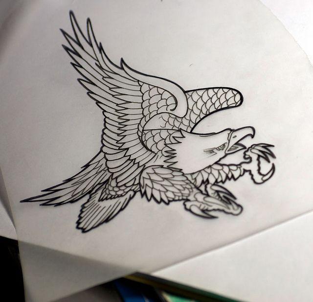 eagle chest piece tattoo   Eagle Tattoo Flash   Flickr - Photo Sharing!