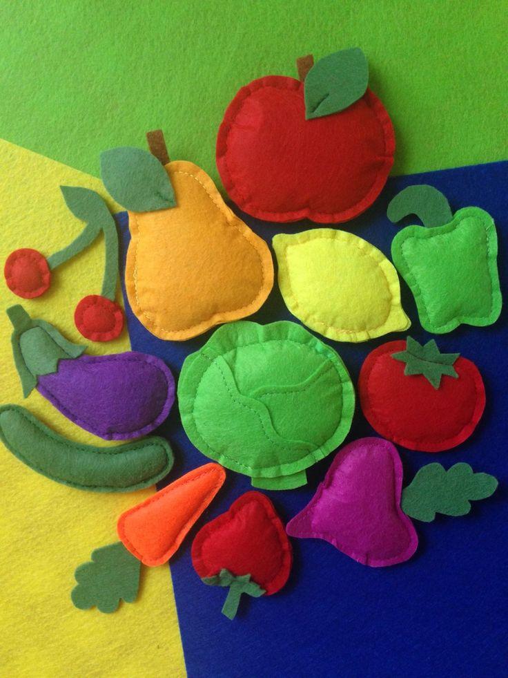 фрукты и овощи из фетра картинки дефекты