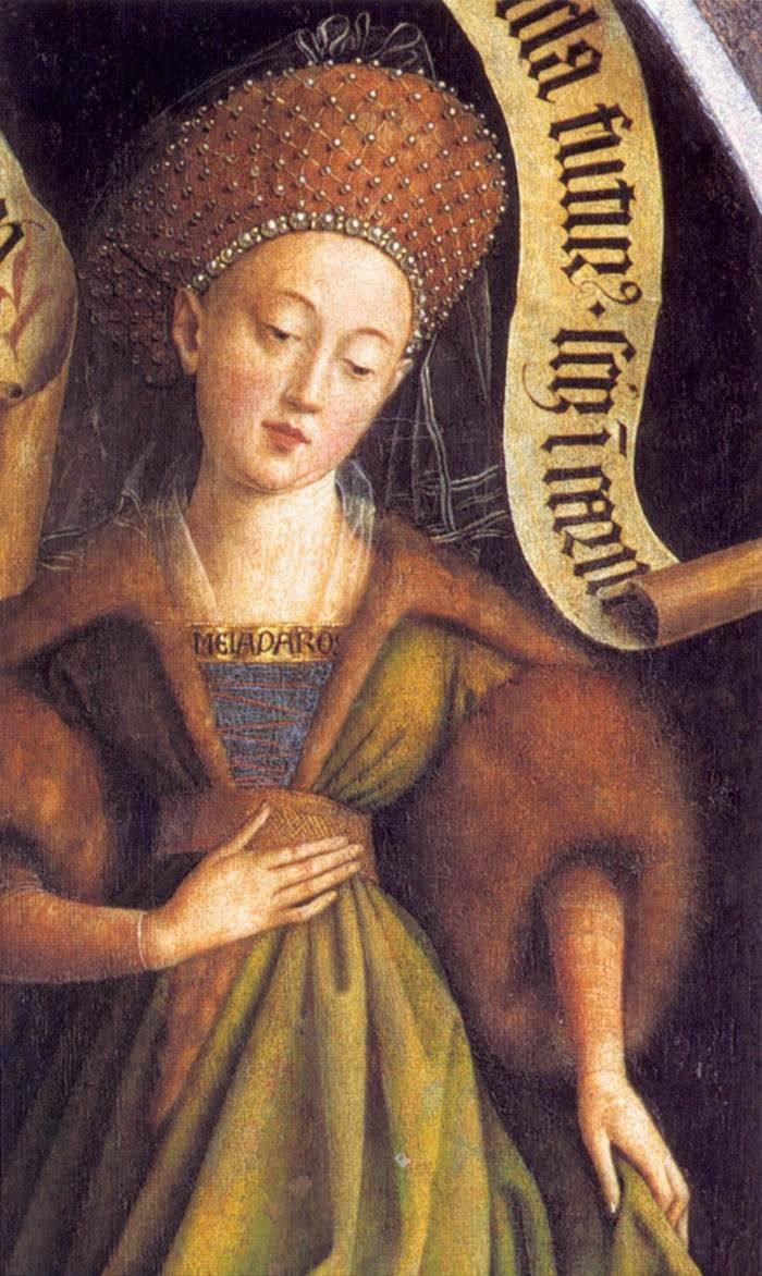 The Ghent Altarpiece: Cumaean Sibyl (detail) 1432 Oil on wood Cathedral of St Bavo, Ghent