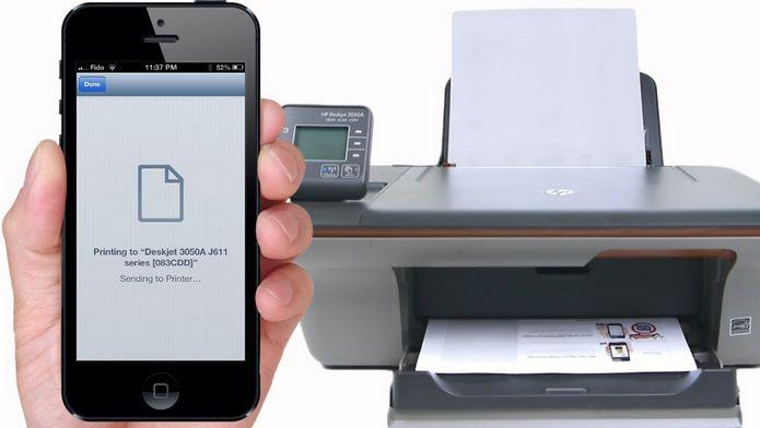 Printing through iPhone and iPad