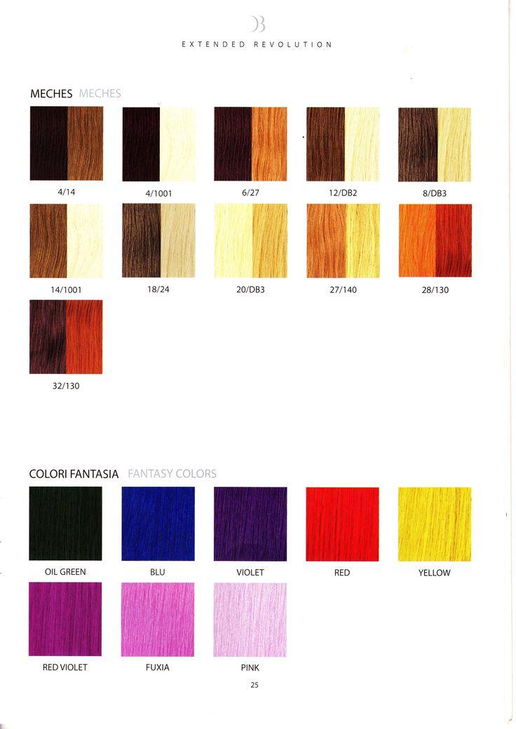 La vasta gamma di colori utilizzati da #viemmehairextension. www.viemmehairextension.com