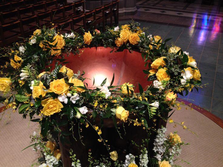 Baptismal Font, Easter, National Cathedral
