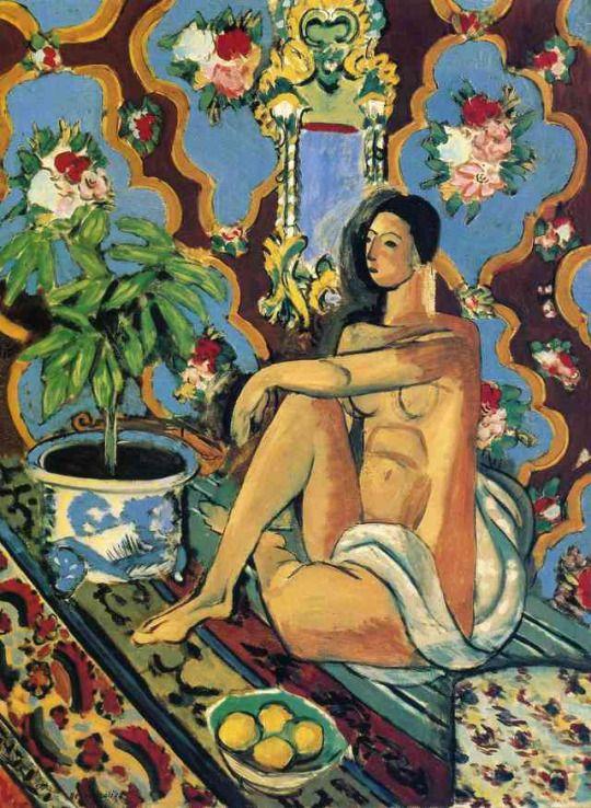 Decorative Figure on an Ornamental Background, Henri Matisse, 1925