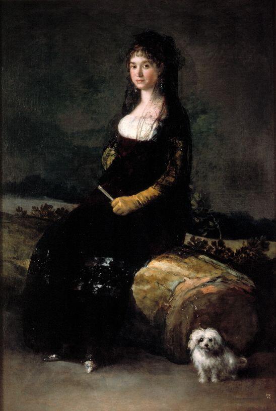 Retrato de Joaquina Candado Ricarte (Francisco de Goya, circa 1790, Museo de Bellas Artes, Valencia, Spain)