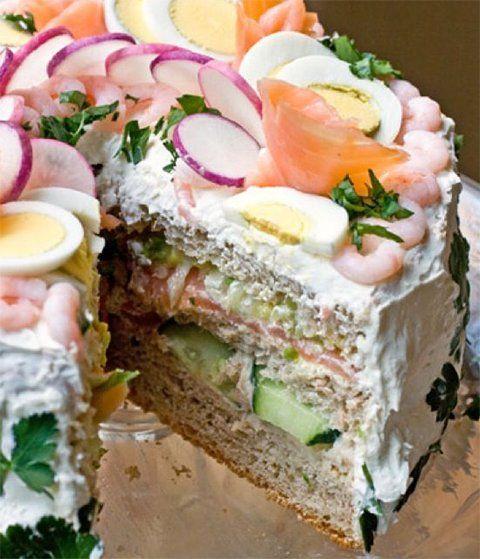 Binnenkort+een+high+tea+of+lekkere+lunch+maken?+Vergeet+het+gebak!+Maak+een+heerlijke+brood+taart!