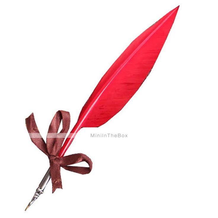 moda vintage estilo de escrita de tinta colorido pena de ganso caneta de pena nib conjunto de 1903921 2016 por €37.99