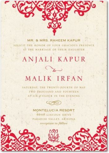 i want to celebrate my heritage without throwing my big fat indian wedding - Indian Wedding Invitation