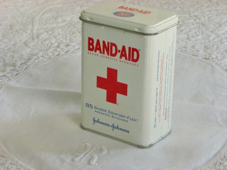 band aid tin