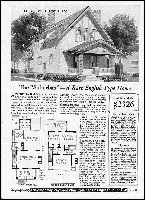 1928 Wardway Kit Houses The Suburban Kit Homes Vintage House Plans House Plans