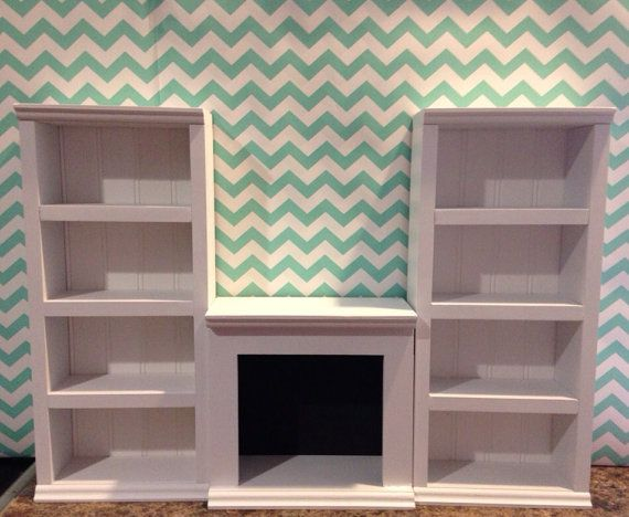 """NEW 2 tall shelf 1 fireplace unit white for by QueenEmmaDesigns, $85.003 piece UNIT. 2 tall shelves and one fireplace unit. GORGEOUS! Each tall shelf measures 20"""" tall, by 9"""" wide and 3 1/2"""" deep. Fireplace measures 10 1/2"""" wide, by 4 1/2"""" deep, by 10"""" tall."""