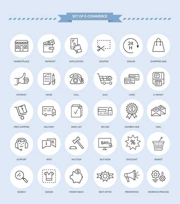 4-E-commerce-Icons-Set