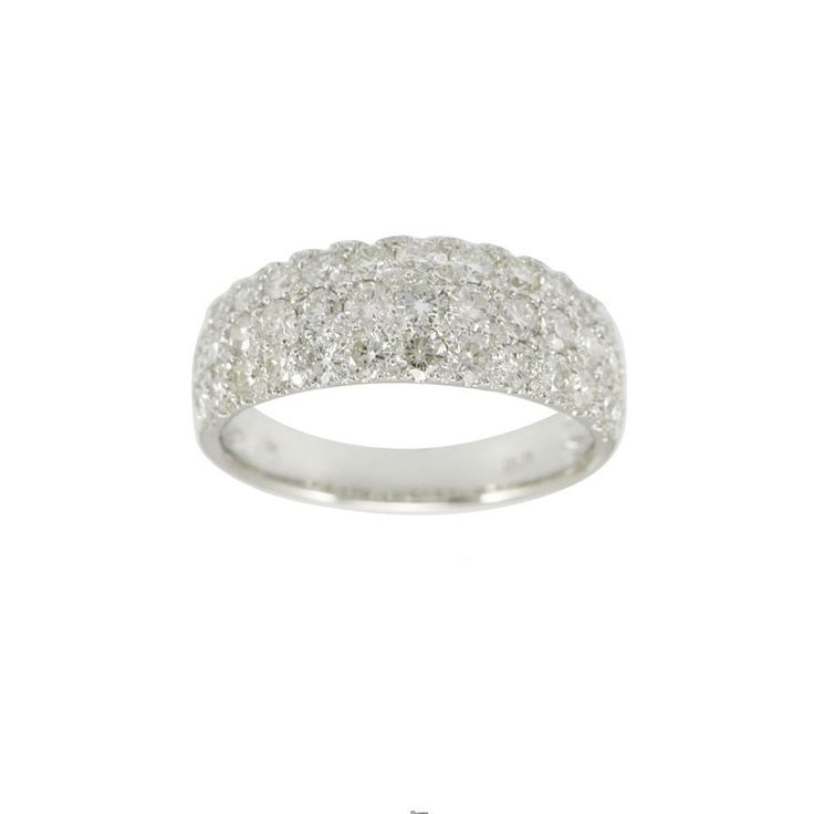 Admirable #Brilliance! A pavé set White #Diamond Ring.  Total weight of White Diamonds, 1.71 cts.  14-kt Gold, also available in 18-kt Gold.  Price upon request: info@shivasjewelers.com   #ShivasGoldandGems #Diamonds #giftidea #ValentinesDay #StValentinesDay #Valentinesgifts #diamantes #diamants #oro #or #gold #joyas #jewelry #jewellery #love #brilliant #бриллианты #золото #украшения #ювелирныеукрашения #anillos #bagues #lux #deluxe #luxury #whitegold